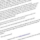 OPROEP: Inleveren vragenlijst voor de burgemeester